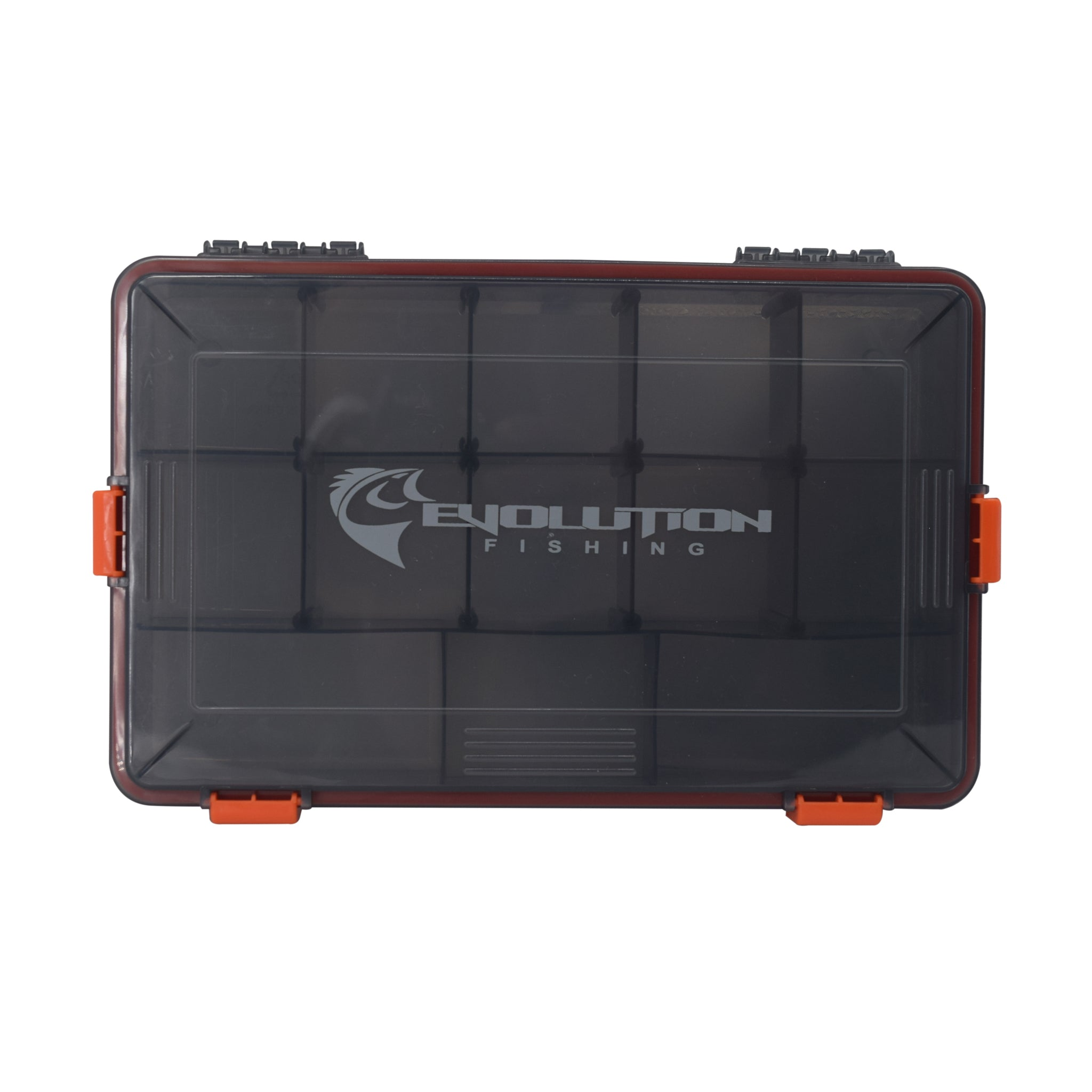 3600 4-Latch Waterproof Tackle Tray - Orange