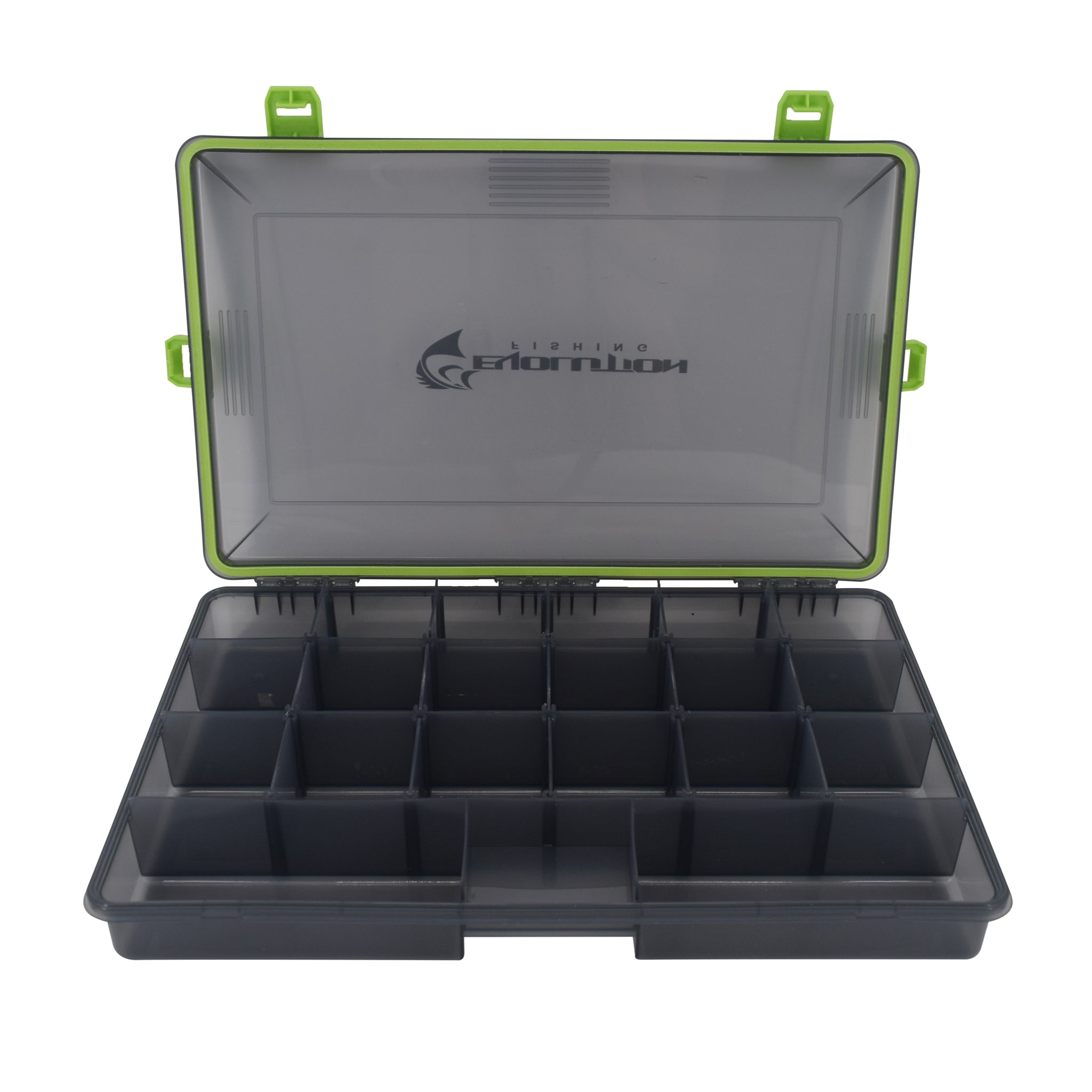 3700 4-Latch Waterproof Tackle Tray - Green
