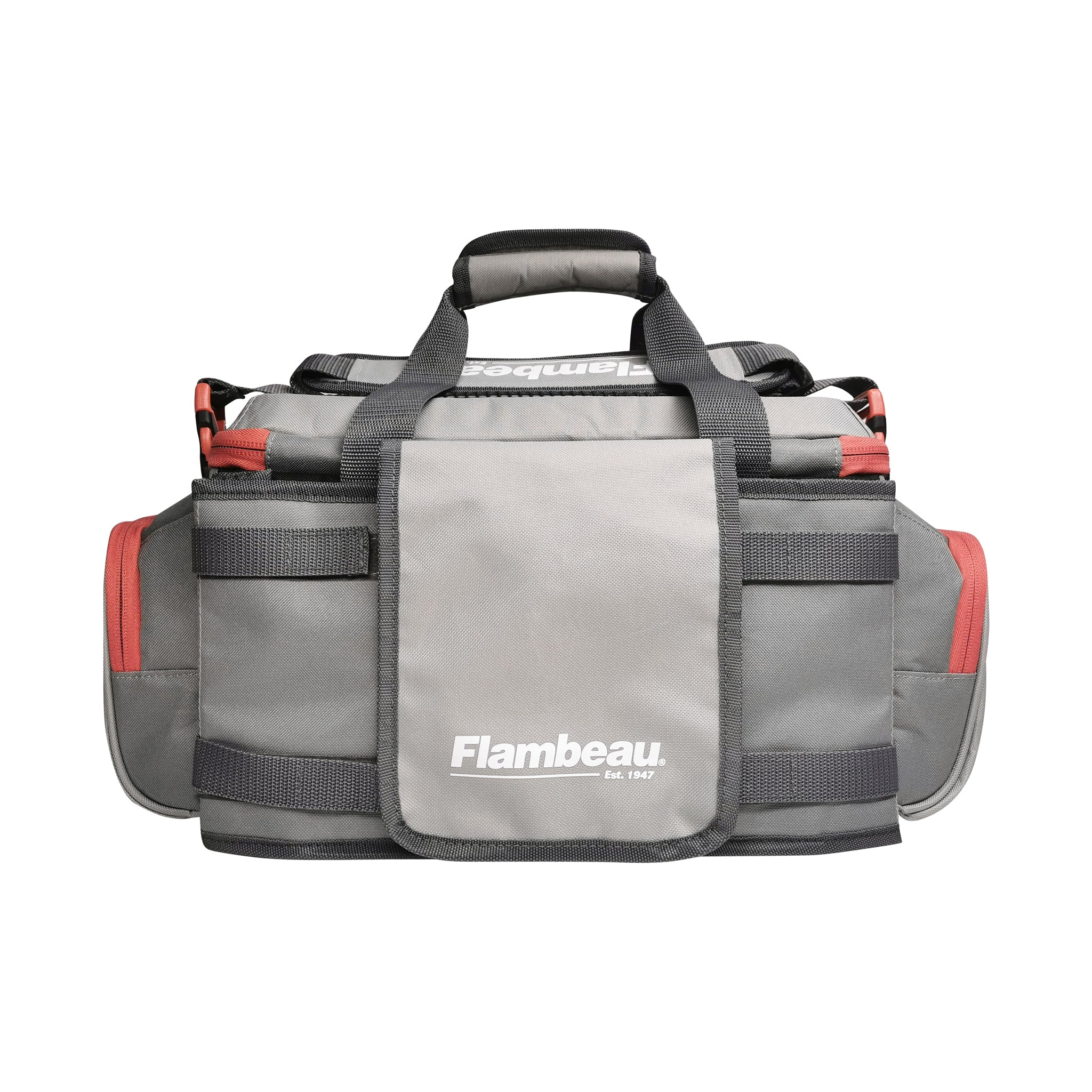 5007 Flambeau Pro-Angler Tackle Bag (Grey-Red)