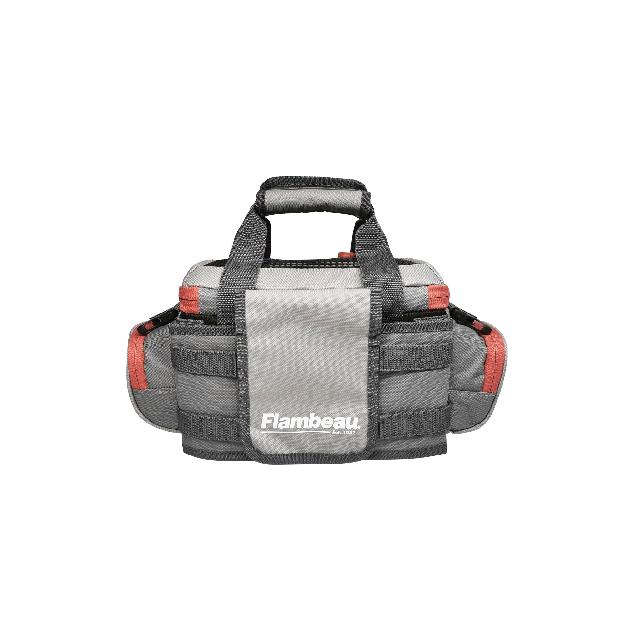 4007 Flambeau Pro-Angler Tackle Bag (Grey-Red)
