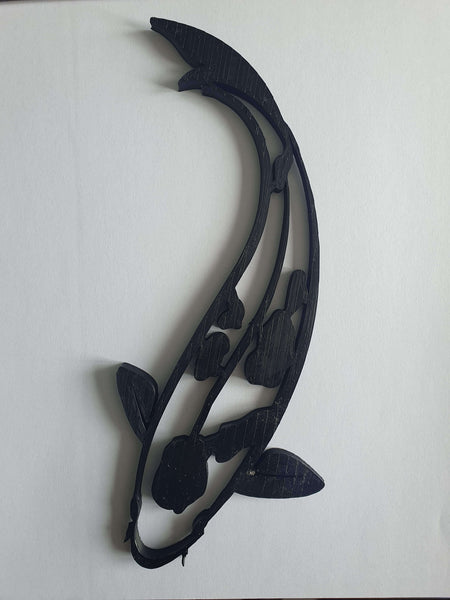 Black Koi fish wall decor
