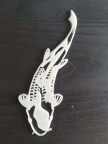 White Koi fish wall decor