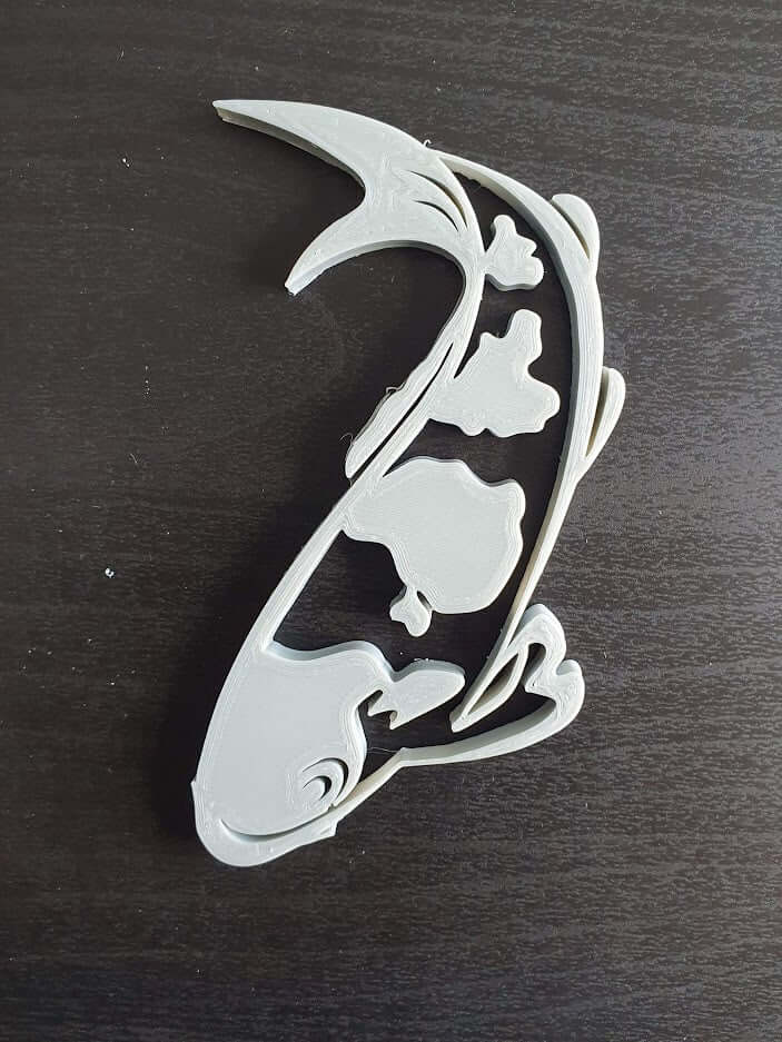 Grey Koi fish wall decor