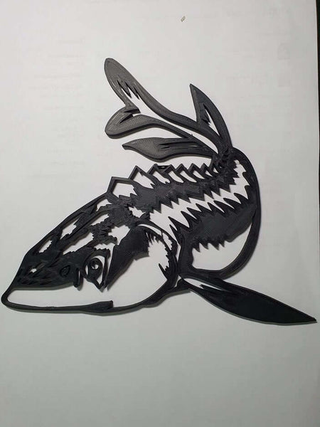 Black Sturgeon wall decor