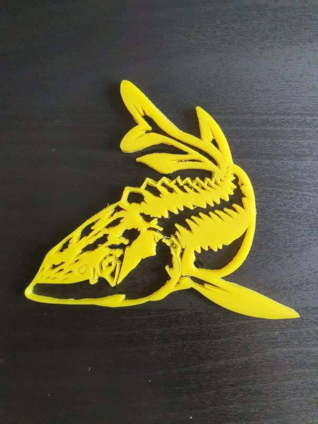 Yellow Sturgeon wall decor