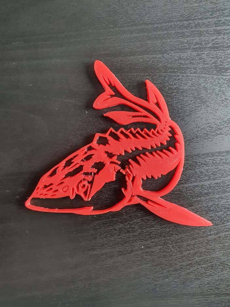 Red Sturgeon wall decor