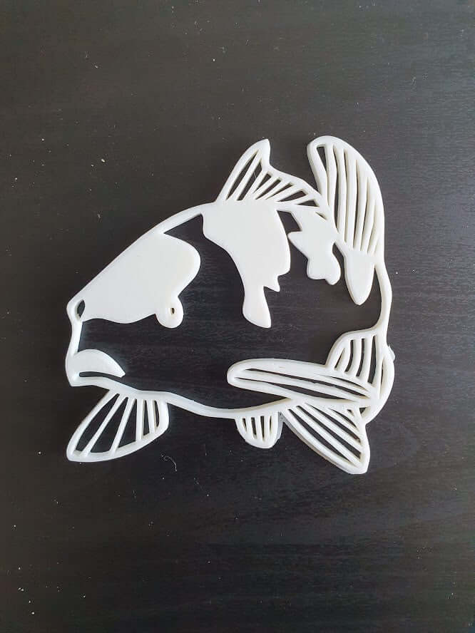 Koi 3D Wall Decor 6 Side View