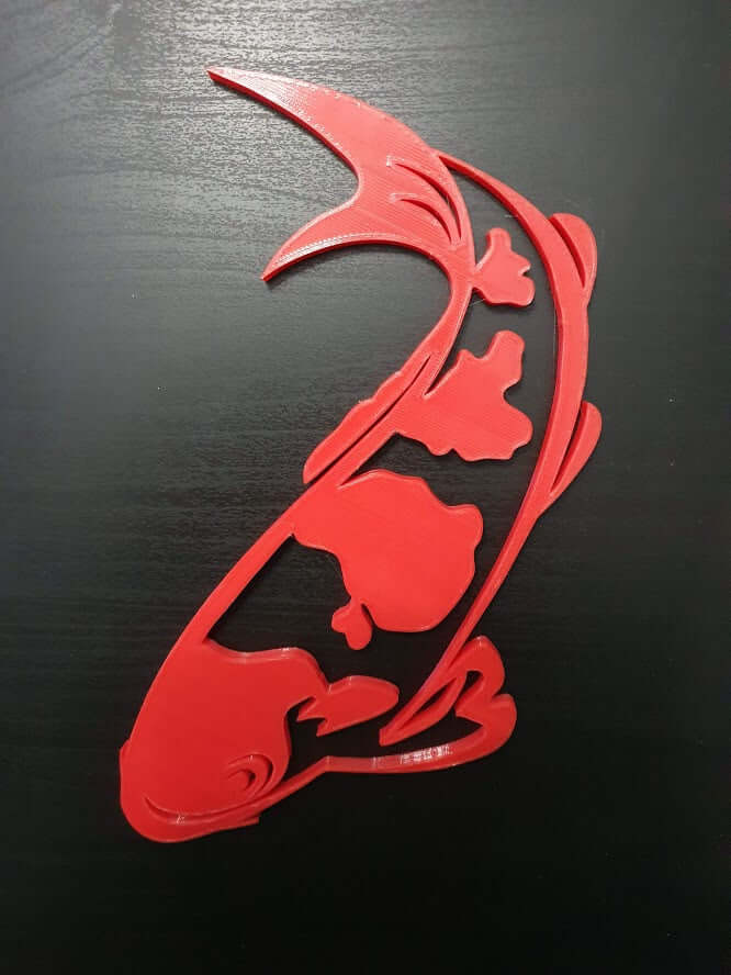 Red Koi fish wall decor