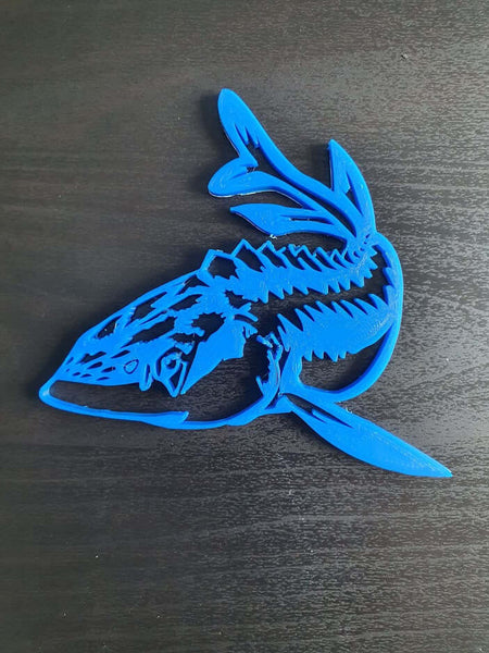 Blue Sturgeon wall decor