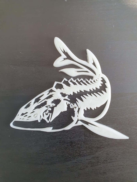 White Sturgeon wall decor