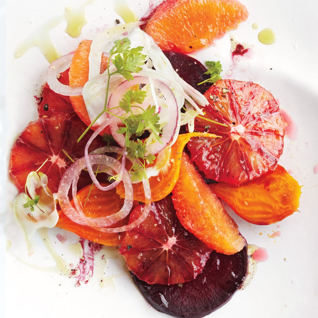 Blood orange and beet fennel salad