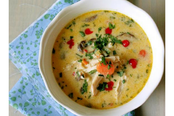 Thai Chicken and Rice with Lemongrass Soup