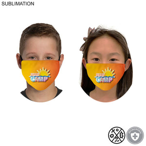 Custom 2-ply Antimicrobial CHILD Infinity-edge full color face mask (min 12)