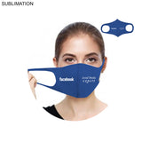 Full Color Sublimation spandex fitted face-mask, full infinity-edge printing (50 quantity)