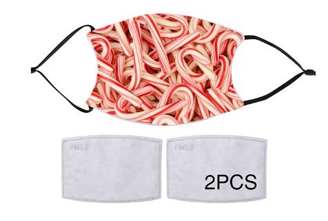 7-ply Fashion Face Mask - Candy Cane Surprise