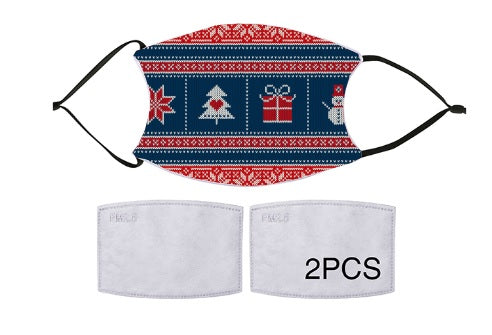 7-ply Fashion Face Mask - Christmas Cozy Festive
