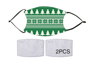 7-ply Fashion Face Mask - Christmas Cozy Green