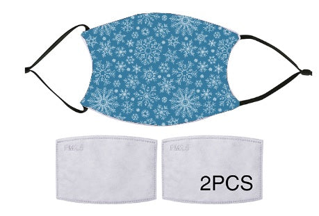 7-ply Fashion Face Mask - Winter Snowflake