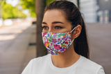 Designer 2-Ply Antimicrobial Face Mask - Garden Oasis