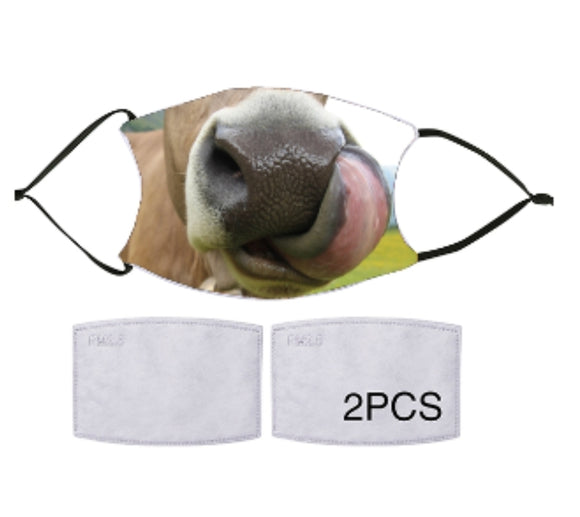 7-ply Fashion Face Mask - Smiling Cow