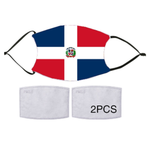 7-ply Fashion Face Mask - Dominican Flag
