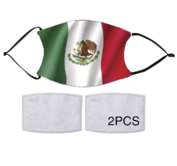 7-ply Fashion Face Mask - Mexican Flag