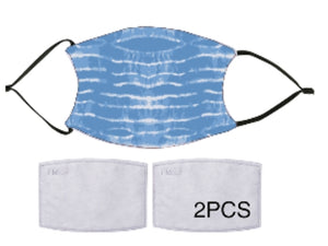 7-ply Fashion Face Mask - Tie Dye Blue