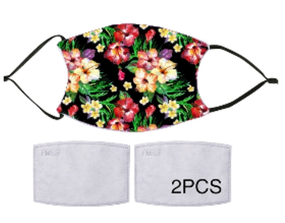 7-ply Fashion Face Mask - Hawaiian Tropical