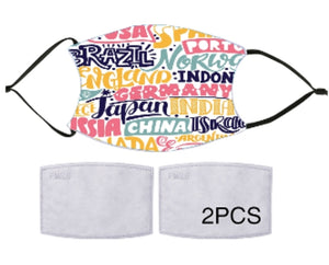 7-ply Fashion Face Mask - Worldly