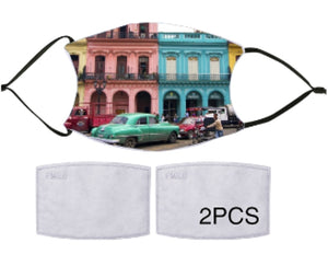 7-ply Fashion Face Mask - Streets of Cuba