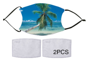 7-ply Fashion Face Mask - Tropical Palm