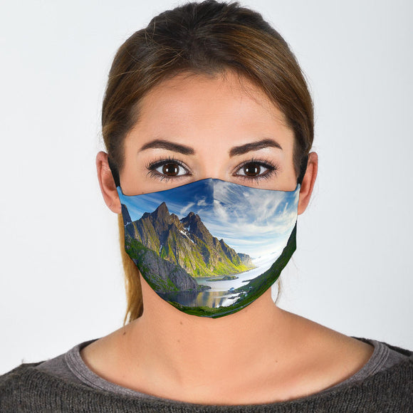 Premium Designer Face Mask - Scottish Scene