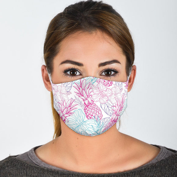 7-layer Premium Designer Face Mask - Pink Pineapple