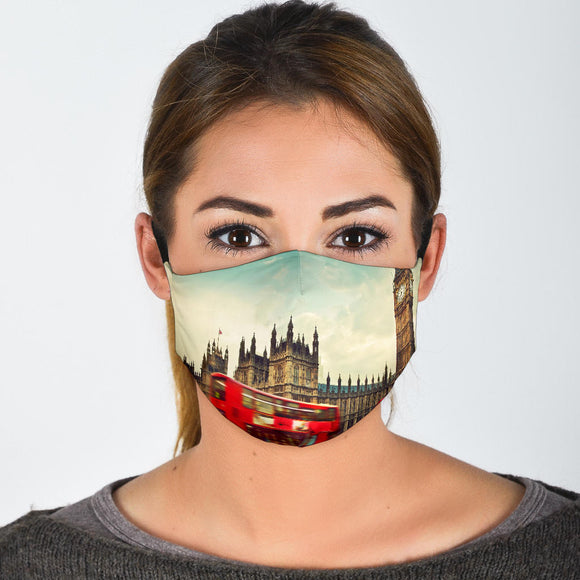 Premium Designer Face Mask - London Vibe