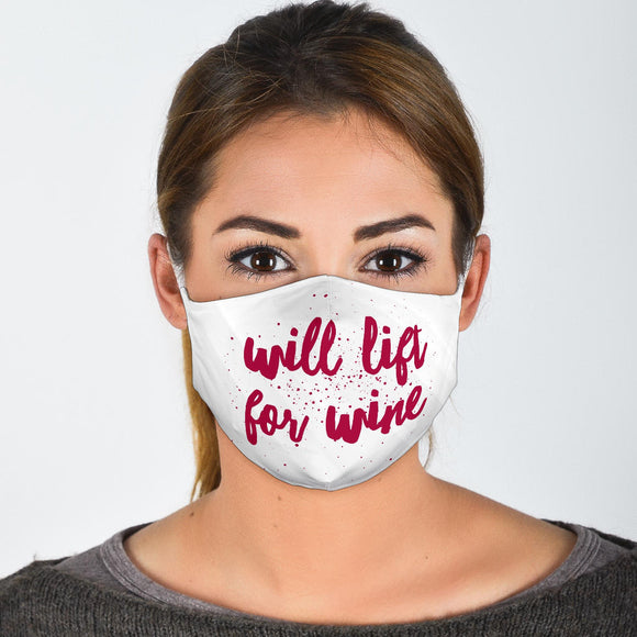 Premium Designer Face Mask - Wine Lift
