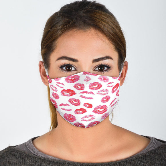 Premium Designer Face Mask - Kissy Kiss