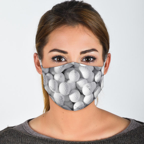 Premium Designer Face Mask - Golf Balls