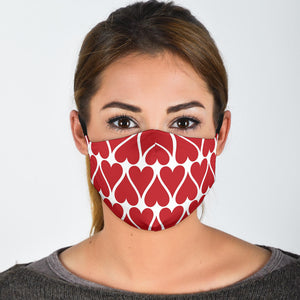 Premium Designer Face Mask - Love Hearts