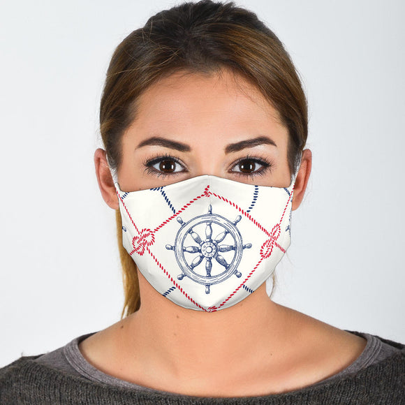 Premium Designer Face Mask - Nautical Life