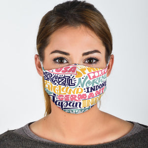 Premium Designer Face Mask - Worldly