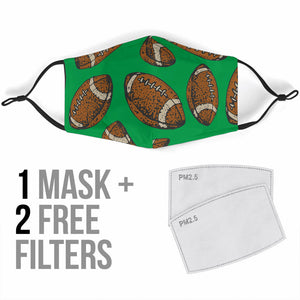 Premium Designer Face Mask - Football Touchdown