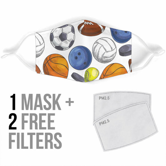 Premium Designer Face Mask - Sporty Look