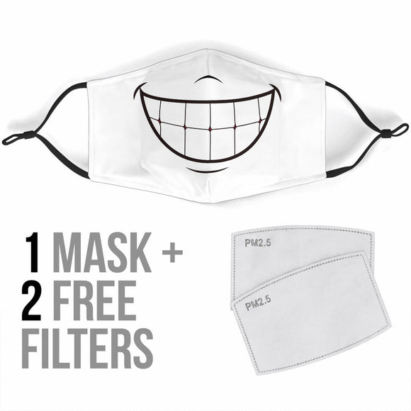 Premium Designer Face Mask - Pearly Whites