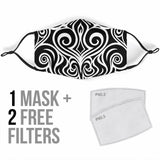 Premium Designer Face Mask - Tahiti Tattoo
