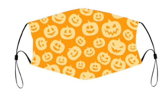 2-ply Halloween Face Mask - Pumpkin Spice