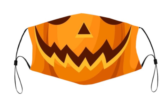 2-ply Halloween Face Mask - Pumpkin Head