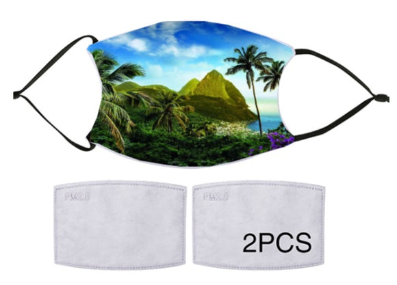 7-ply Fashion Face Mask - St Lucia