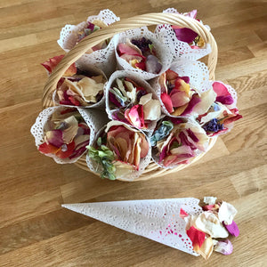 White Lace Confetti Cones Now Available on Rosepetals.ie