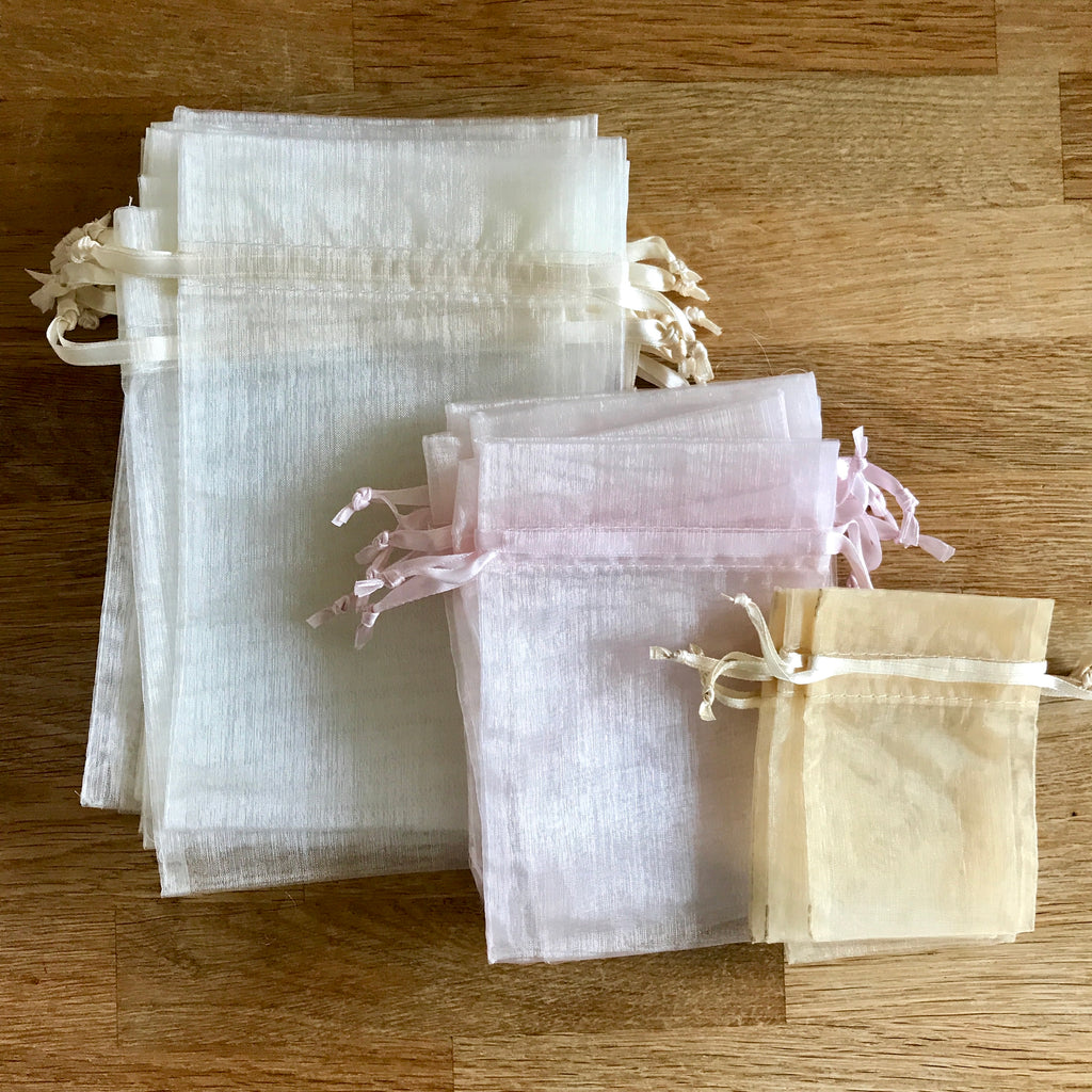 Sheer Organza Confetti and Favour Bags on Rosepetals.ie Ireland - Wedding Favours and Confetti Ideas