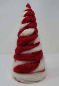 Red & White Wool Trees